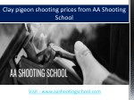 clay pigeon shooting prices from aa shooting