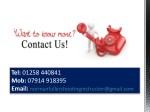 tel 01258 440841 mob 07914 918395 email