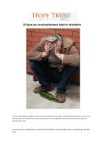 10 signs you need professional help for alcoholism