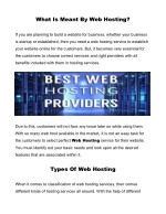 what is meant by web hosting