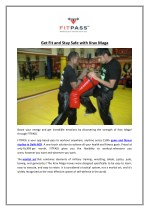 get fit and stay safe with krav maga