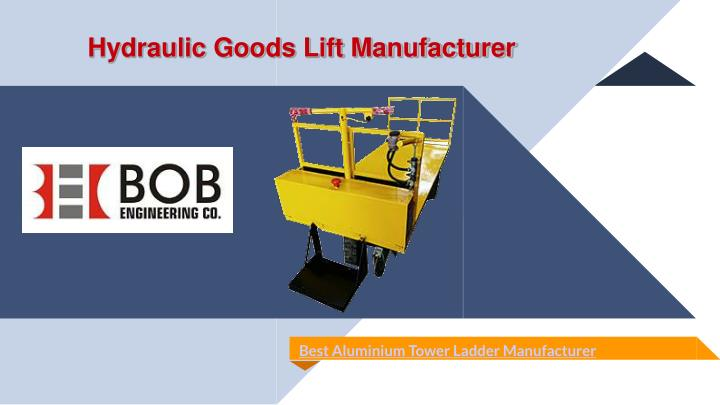 hydraulic goods lift manufacturer n.