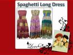 spaghetti long dress