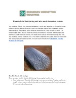 uses of chain link fencing and wire mesh