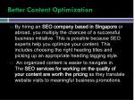 better content optimization