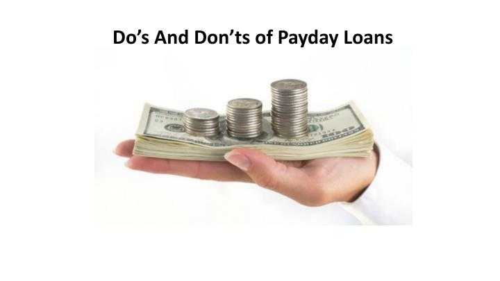 do s and don ts of payday loans n.