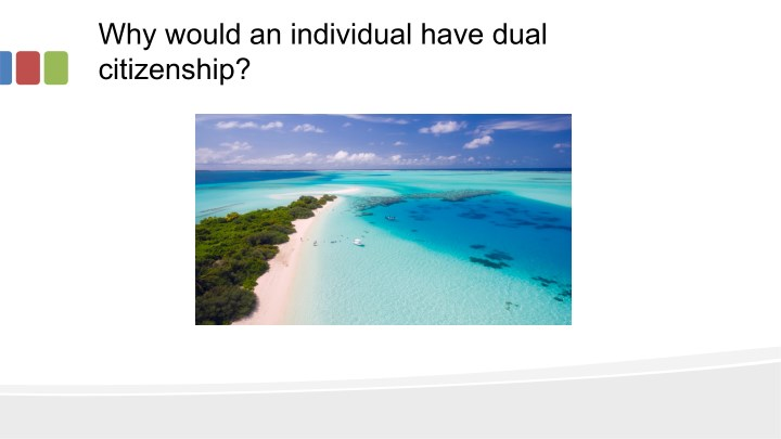 why would an individual have dual citizenship n.