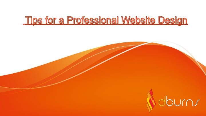 tips for a professional website design n.
