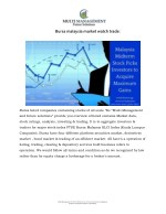 bursa malaysia market watch trade