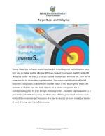 target bursa and malaysia