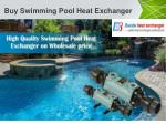 buy swimming pool heat exchanger 1
