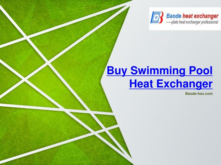 buy swimming pool heat exchanger n.