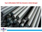 top 4 affordable tmt bar brands in west bengal
