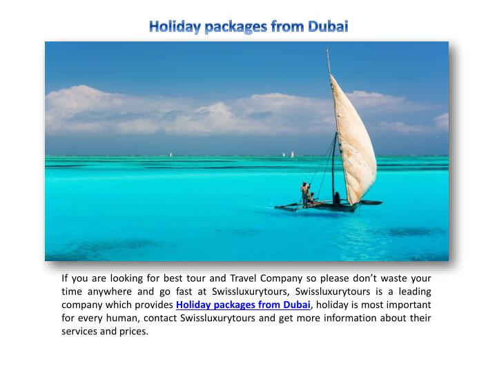 holiday packages from dubai n.