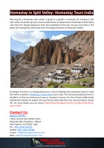 homestay in spiti valley homestay tours india