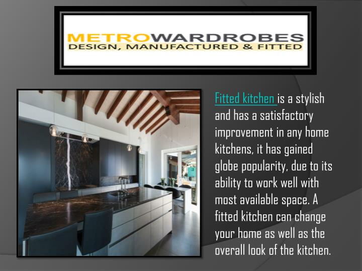 fitted kitchen is a stylish n.