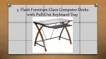 3 flash furniture glass computer desks with pull