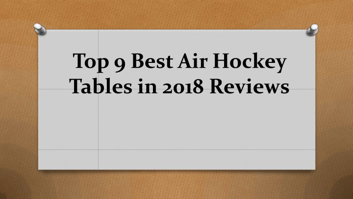 top 9 best air hockey tables in 2018 reviews n.