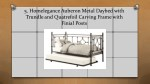5 homelegance auberon metal daybed with trundle