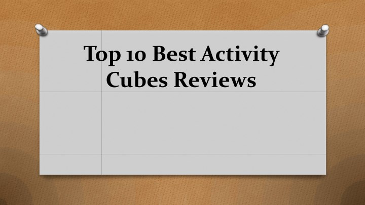 top 10 best activity cubes reviews n.