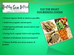 eat the right nourishing foods