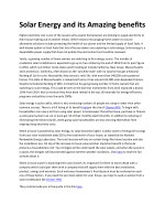 solar energy and its amazing benefits 1