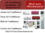 air conditioning installation and repair service
