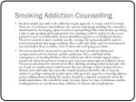 smoking addiction counselling