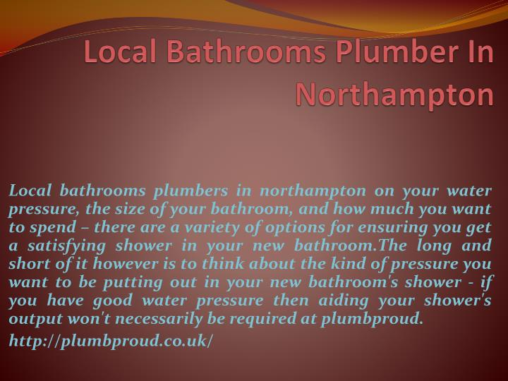 local bathrooms plumber in northampton n.