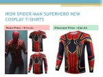iron spider man superhero new cosplay t shirts