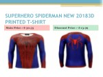 superhero spiderman new 20183d printed t shirt