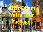 char d ham yatra tour packages