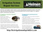 irrigation system repair services