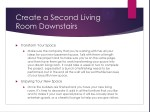 create a second living room downstairs 1