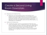 create a second living room downstairs
