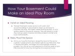how your basement could make an ideal play room