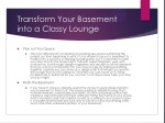 transform your basement into a classy lounge