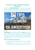 5 things to lookout for before climbing