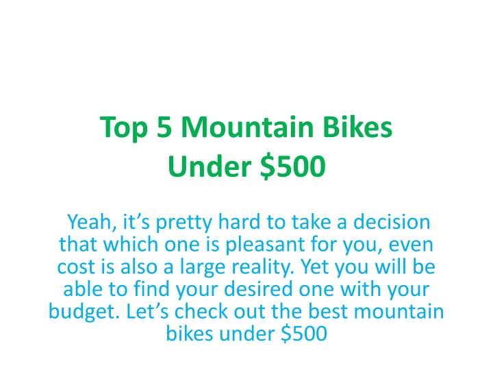top 5 mountain bikes under 500 n.