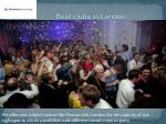 best clubs in london