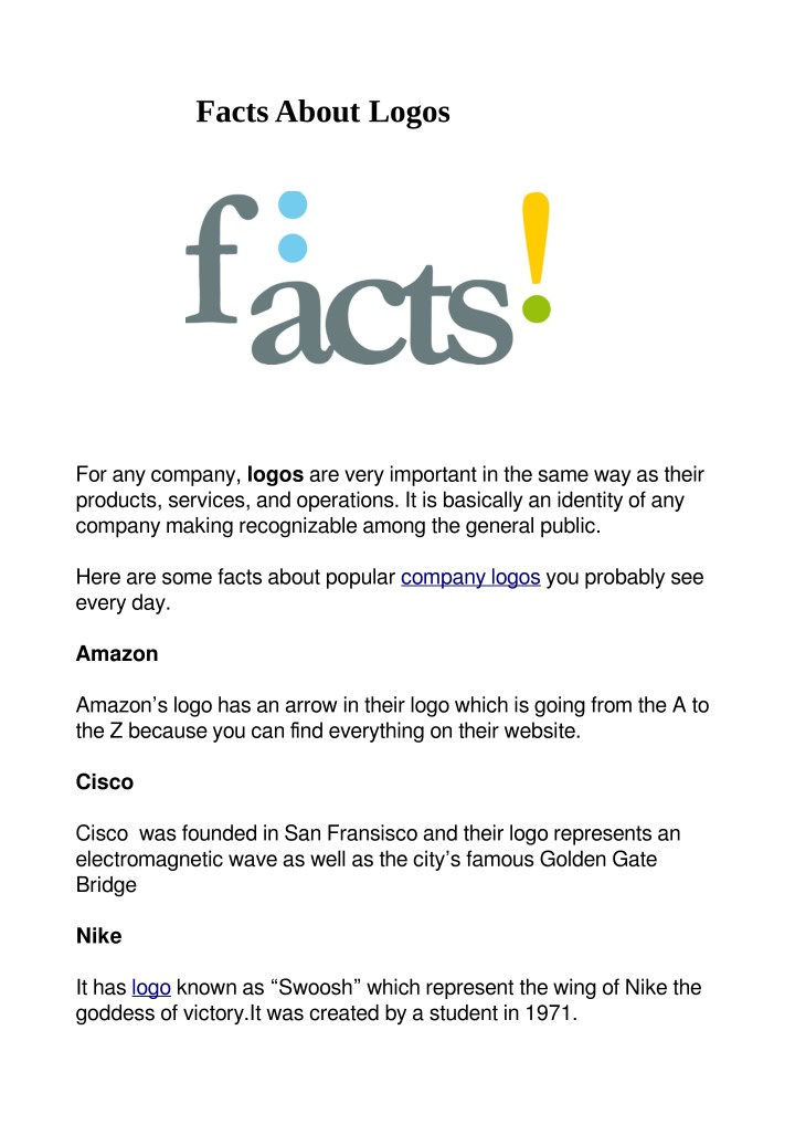 facts about logos n.