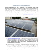 overview about rooftop solar power plant