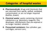 categories of hospital wastes 2