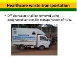 healthcare waste transportation 1