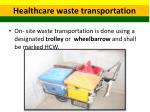 healthcare waste transportation