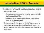 introduction hcw in tanzania 1