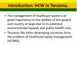 introduction hcw in tanzania