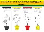 sample of an educational segregation poster