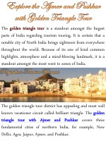 the golden golden triangle parts of india