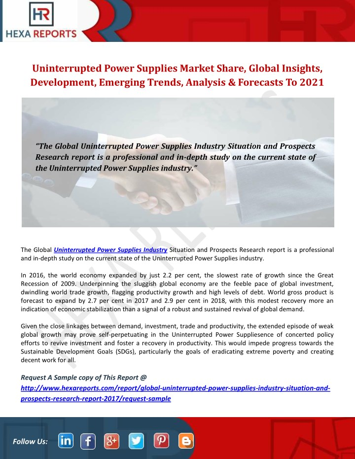 uninterrupted power supplies market share global n.